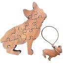 早め発送木製ジグソーパズルフレンチブルドッグ17×2×18cm犬型パズル木製山桜ハンドメイド