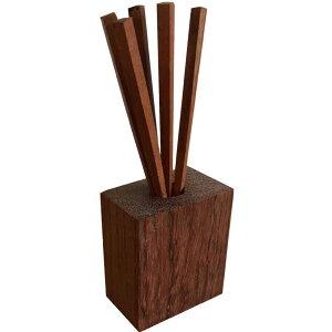 爪楊枝 山桜 銘木 かりんのスタンド付き 木製 高級銘木 サクラ ハンドメイド オーダーメイド 1628406