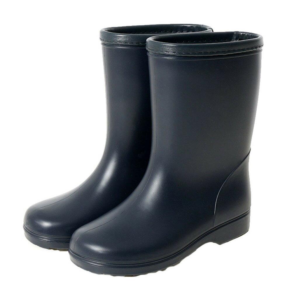 【濃紺のレインブーツ】長靴☆ キッズ レインブーツ 長靴 可愛い 女の子 雨 通学用 受験用 お受験 男女兼用 通塾 レインシューズ