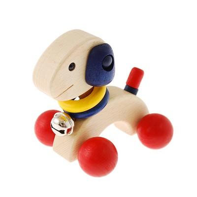 首としっぽが動くかわいい犬の車 パピー 知育玩具 子ども用おもちゃ ≪ネコポス不可商品≫ [M便 1/0]