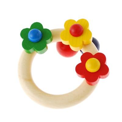 フラワーラトル 木のおもちゃ 知育玩具 子ども用おもちゃ ≪ネコポス不可商品≫ [M便 1/0]