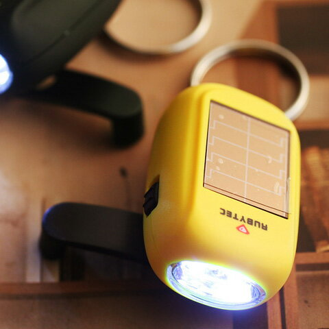 RUBYTEC ソーラーチャージ LEDライト キーホルダー