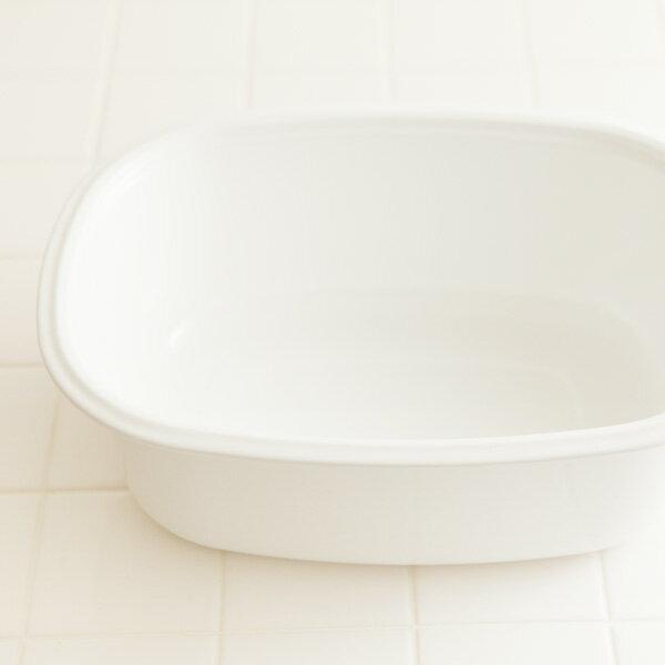 野田琺瑯(のだほうろう) 楕円型 洗い桶