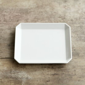 1616/arita japan TY スクエアプレート 130 (TY Square Plate White)