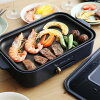 BRUNO Bruno compact hot plate + ceramic coated Pan + Grill plate set all