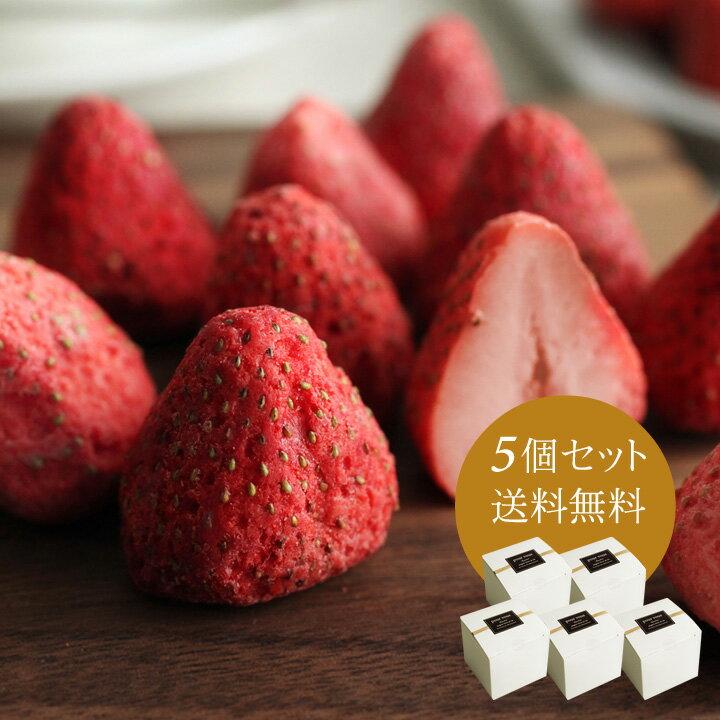 ホワイトいちごチョコ 5個セット/いちごチョコ/フリーズドライ/含浸【送料無料】