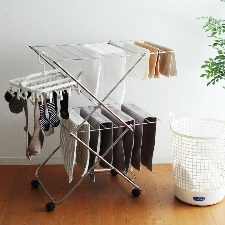 大木製作所 タワー型室内物干し 2段【送料無料】