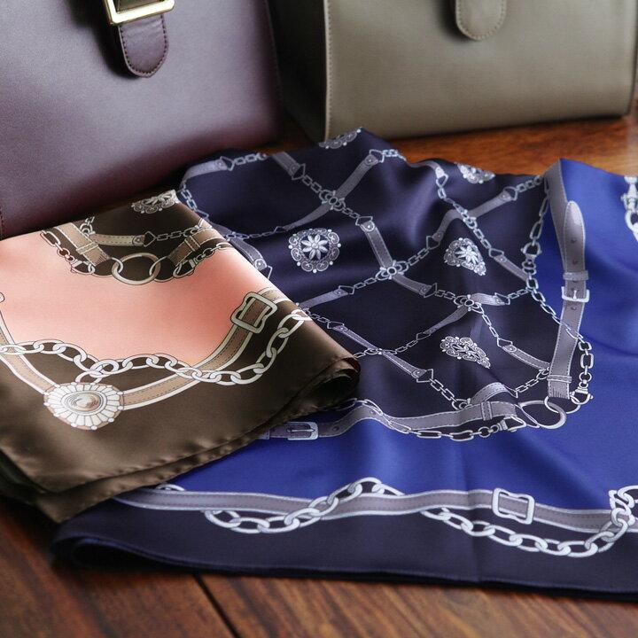 イタリア製 チェーン柄スカーフ