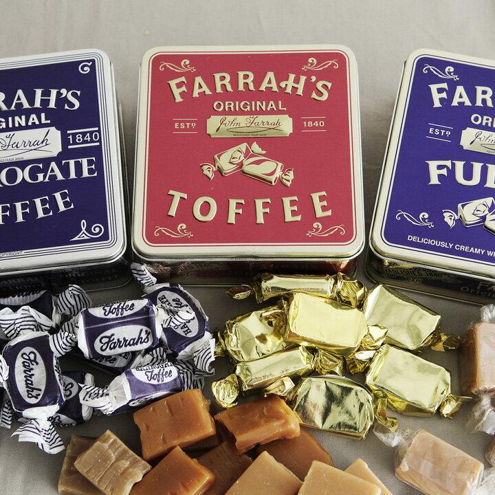 ホワイトデー お返し FARRAH'S トフィー&ファッジ 缶入り/ファラーズ