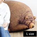 スリーピング グリズリーベア クッション L/Sleeping Grizzly Cub beanbag【送料無料】