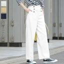 【6/19 追加】 ラク伸び ストレッチリネン マリン パンツ/ディシテ dignite