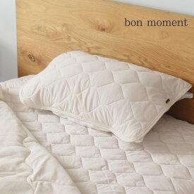 bon moment ドライコットン さらさら枕パッド 43×63cm 綿100%/ボンモマン