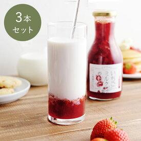 【3個セット】いちごミルクのもと 325g/いちごスイーツ専門店 ICHIBIKO