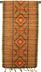 イカットのすだれワイドオレンジ・赤・こげ茶[43x140cm] アジアン 雑貨 バリ 雑貨 タイ 雑貨 アジアン インテリア