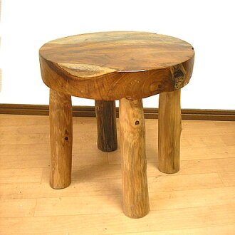 Bali furniture natural wood teak Chairs Stools S [H... approximately 30.5 cm] [In0318]