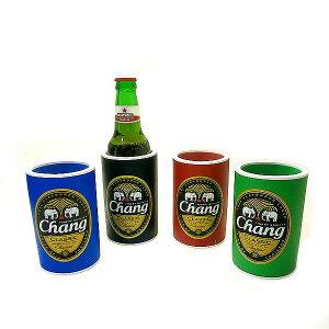 チャーンビール ドリンク ホルダー ペットボトル カバー 全4色 アジアン バリ タイ エスニック 雑貨 インテリア CHANG BEER 象のビール ウレタンホルダー