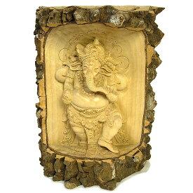 木彫りの『ガネーシャ』クロコダイルウッドB [H.30.5cm] アジアン 雑貨 バリ 雑貨 タイ 雑貨 アジアン インテリア 送料無料