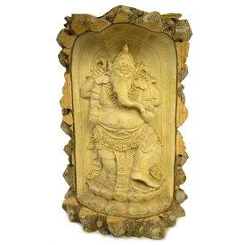 木彫りの『ガネーシャ』クロコダイルウッドC [H.31cm] アジアン 雑貨 バリ 雑貨 タイ 雑貨 アジアン インテリア 送料無料