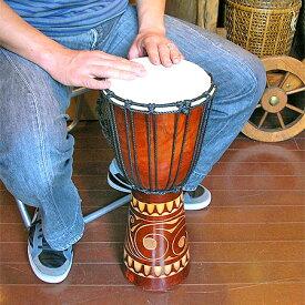 アジアの楽器ジャンベ[太鼓]H.50cm木彫り アジアン 雑貨 バリ 雑貨 タイ 雑貨 アジアン インテリア 送料無料
