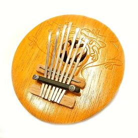 ココナッツのカリンバ 木彫りの トカゲ模様 S 直径約20cm アジアン 雑貨 バリ 雑貨 タイ 雑貨 アジアン インテリア