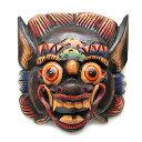 木彫りのお面マスク『バロン』壁掛Mサイズ[縦25cmx横23cm] アジアン 雑貨 バリ 雑貨 タイ 雑貨 アジアン インテリア