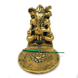 ガネーシャ お香立て アンティーク ゴールド スティック コーン インセンス ホルダー アジアン バリ タイ エスニック 雑貨 インテリア オブジェ