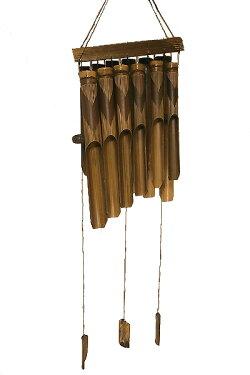 バンブーの風鈴12連ブラック[竹ベル長さ40cm]【あす楽対応_関東】【バリ雑貨】【アジアン雑貨】【YDKG-k】【P0418】