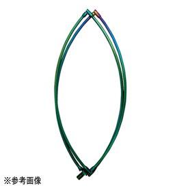 【送料無料5】宇崎日新 ゼロサム タモ枠(四ツ折り) チタンレインボー 45cm