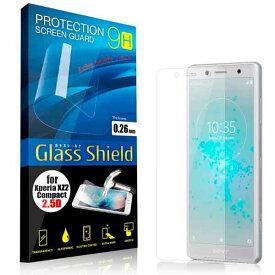 液晶保護フィルム Xperia XZ2 Compact 2.5D 9H(全透明) ガラスフィルム 強化ガラス エクスペリア エックスゼット ツー コンパクト