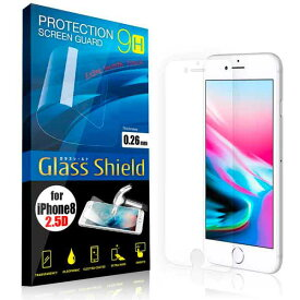 液晶保護フィルム iPhone8 2.5D 9H ガラスシールド(全透明) ガラスフィルム 強化ガラス アイフォン エイト