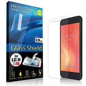 液晶保護フィルム LG it LGV36 2.5D 9H ガラスシールド(全透明) ガラスフィルム 強化ガラス エルジー イット