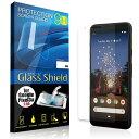 液晶保護フィルム Google Pixel 3a 2.5D 9H 指紋防止(全透明) ガラスフィルム 強化ガラス グーグル ピクセル スリー エー