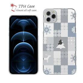 ソフトケース iPhone12 mini iPhone12 Pro Max 全機種対応 クリアケース iPhone11 Pro Max iPhone8 Plus iPhoneXs Max iPhoneXR Xperia Galaxy AQUOS sense ARROWS 柔らかい かわいい 北欧 TPU 透明 ノルディック柄 スクエア