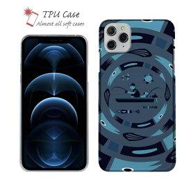 ソフトケース iPhone12 mini iPhone12 Pro Max 全機種対応 クリアケース iPhone11 Pro Max iPhone8 Plus iPhoneXs Max iPhoneXR Xperia Galaxy AQUOS sense ARROWS 柔らかい 釣り 魚 ルアー 透明 釣りざんまい サークルフィッシング_ ナイト