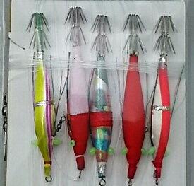 豊後スッテ 3号 5本 WAKi※ 画像は各サイズ共通です。(スッテ、イカ釣り、Japanese traditional squid fishing gear)
