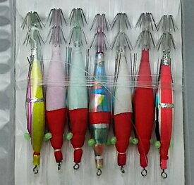 豊後スッテ 2.5号 7本 WAKi※ 画像は各サイズ共通です。(スッテ、イカ釣り、Japanese traditional squid fishing gear)