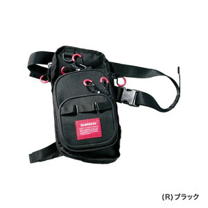 シマノ (shimano) WB-022R ブラック R(右足)ランガンレッグバッグ