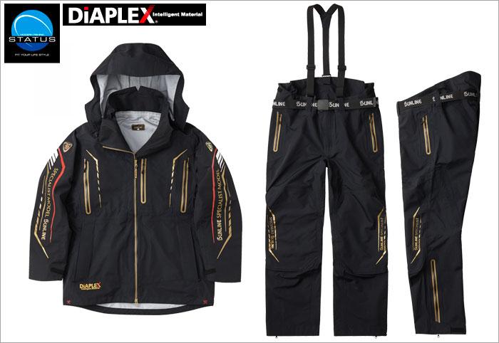 サンライン(sunline) STW-1709 ブラック LL ステータス・ディアプレックス オールウェザースーツ