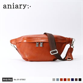 【新色 2019 S/S】【aniary|アニアリ】Antique Leather アンティークレザー 牛革 Body Bag ボディバッグ 01-07003 メンズ 斜め掛け [送料無料]
