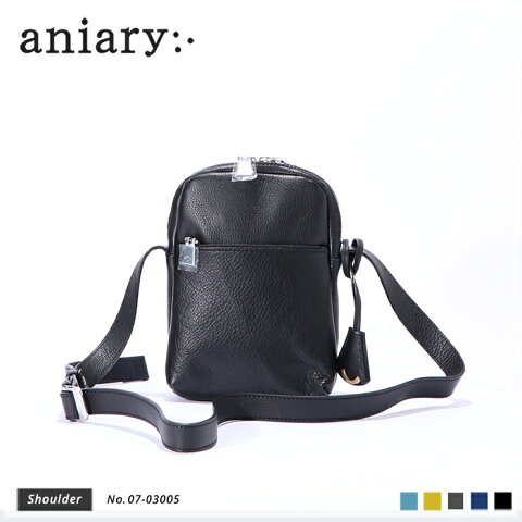 【aniary アニアリ】Shrink Leather シュリンクレザー 牛革 Shoulder ショルダーバッグ 07-03005 [送料無料]