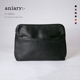 【aniary|アニアリ】Shrink Leather シュリンクレザー 牛革 Clutch クラッチバッグ 07-08002 メンズ [送料無料]