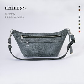 【aniary|アニアリ】Grind Leather グラインドレザー 牛革 Body Bag ボディバッグ 15-07000 メンズ [送料無料]