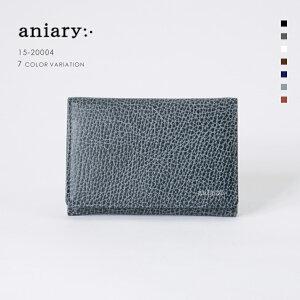 【aniary|アニアリ】Grind Leather グラインドレザー 牛革 Goods カードケース 名刺入れ 15-20004 メンズ [送料無料]