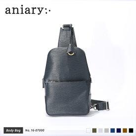 【aniary|アニアリ】Wave Leather ウェーブレザー 牛革 Body Bag ボディバッグ 16-07000 メンズ 斜め掛け [送料無料]