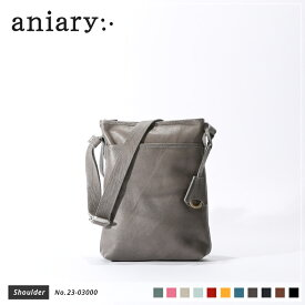 【新作 2019 S/S】【aniary|アニアリ】Crossing Leather クロッシングレザー 牛革 Shoulder ショルダーバッグ 23-03000 メンズ 斜め掛け [送料無料]