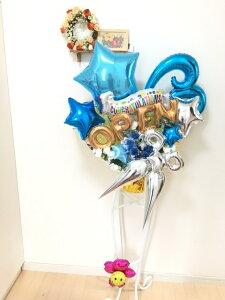 商品NO501フラワーデザイナーとバルーンアーティストがお作りするバルーンスタンドバルーン電報 開店祝い 周年祝に最適です美容室 トリミングサロン はさみ ハサミ