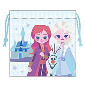 ディズニー アナと雪の女王2 グッズ サテン巾着 アナ&エルサ&オラフ ペーパーアート 705916