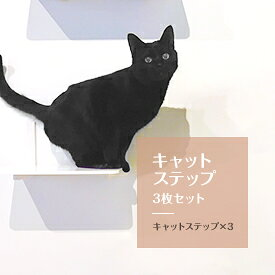 キャットタワー キャットステップ 3枚セット 日本製 猫タワー タワー キャットウォーク キャットステップ 猫 ねこ 多頭飼い 省スペース おしゃれ スリム 単品 DIY 壁 棚 クリア