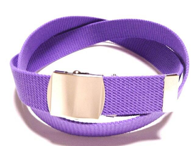 /パープル(薄紫)32ミリ 綿 GIベルト ガチャベルト ローラーバックルベルト【日本製】【フルサイズ対応】【3本までメール便対応可】