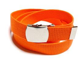 /蛍光オレンジガチャベルトアクリル製 32ミリGIローラーバックルベルト/ 3本までメール便対応可 / 日本製 / フルサイズ対応